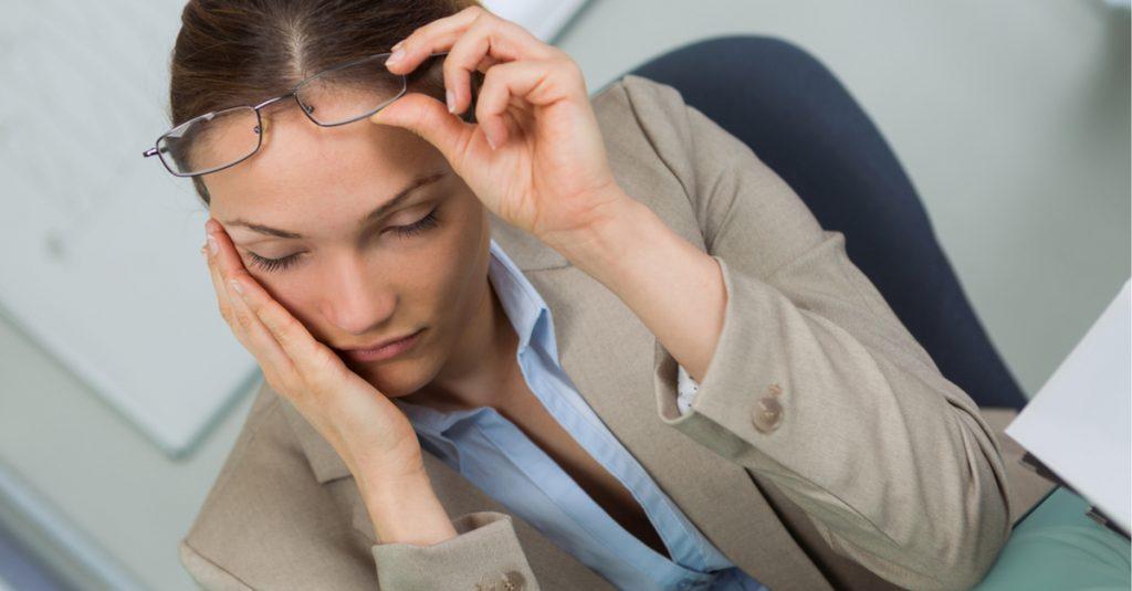 shutterstock-sleep-woman-office