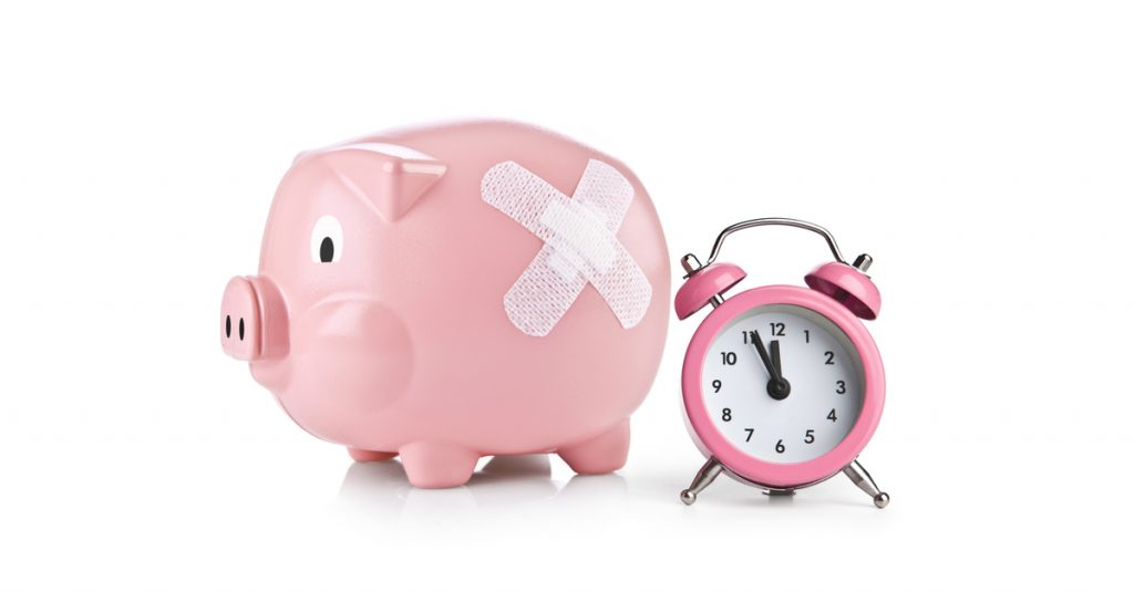 shutterstock-piggy-bank-clock-bandaid