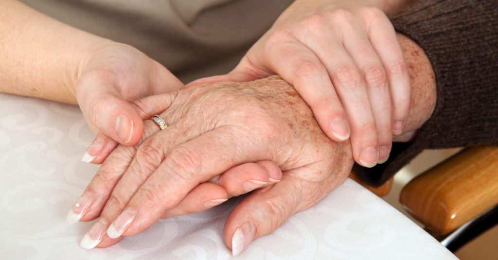 Hands Holding Indicating Grieving