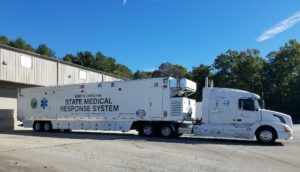 MAHPC Truck - Mission Health Emergency Services during Hurricane Florence