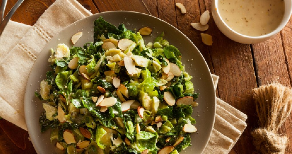 Kale and Brussel Sprout Salad Healthy Recipe