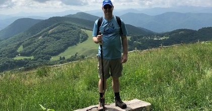 Dr. Frisch Hiking in Western North Carolina