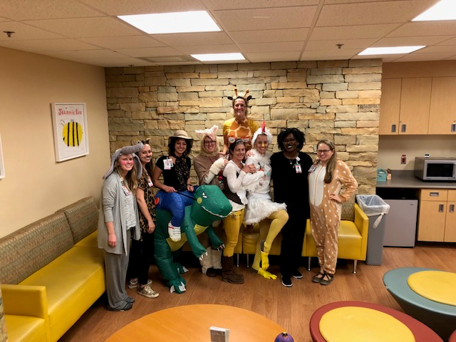 Child Life Team Halloween 2018