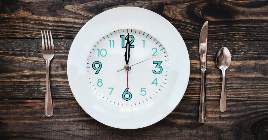 intermittent fasting plate with clock