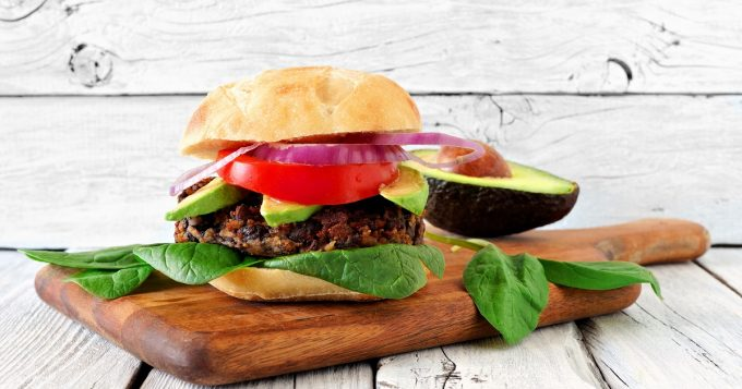 black bean sweet potato veggie burger - mission health
