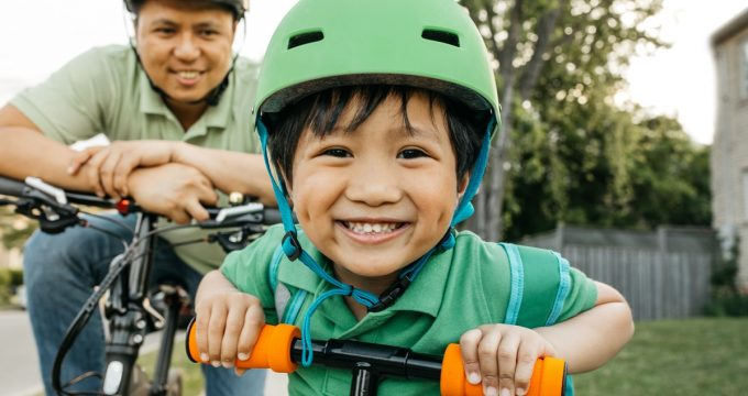 always wear a helmet - bike safety tips