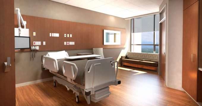 Mission Hospital North Tower Patient Room