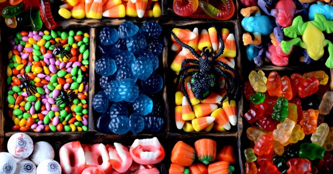 different kinds of halloween candy