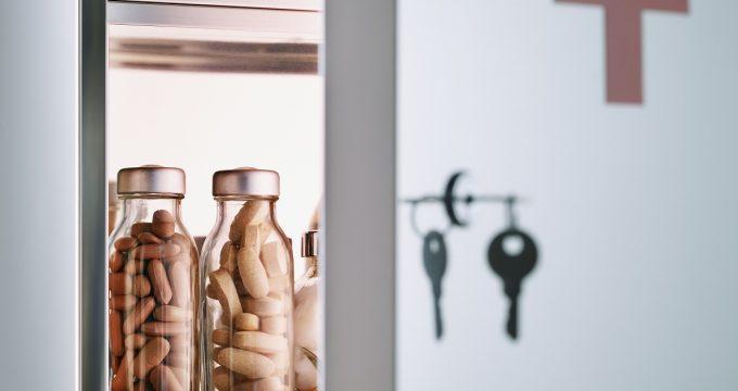lockable medicine cabinet