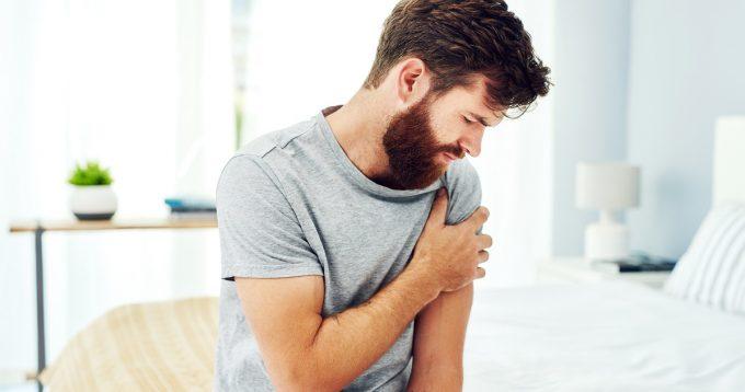 Man with sore shoulder